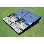 Greek Island Themed Cornhole Boards