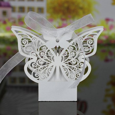 20 PCS Laser Cut Delicate Carved Butterfly Elegant Candy Boxes with Ribbon for Party Birthday Wedding Banquet Kindergarten Bridal - Kindergarten Halloween Party Pinterest