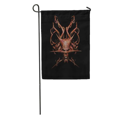 SIDONKU Devil Demon Tentacles 3D Fear Fright Mutant Nightmare Ogre Panic Garden Flag Decorative Flag House Banner 12x18 inch