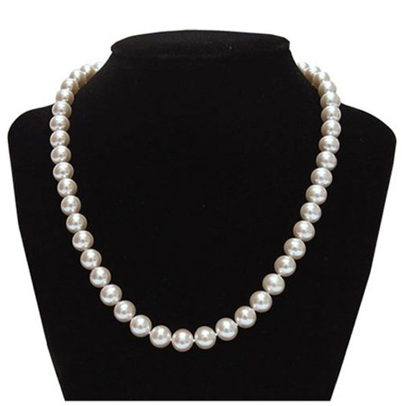 Genuine 9.5-10mm Freshwater Cultured Pearl Necklace In Sterling Silver](Bridal Pearl Necklace)