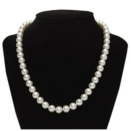 Genuine 9.5-10mm Freshwater Cultured Pearl Necklace In Sterling - Pearl Cluster Necklace
