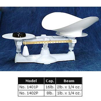 "Penn Scale Bakers Balance Beam Scale, Plate Diameter 9"" 1401P"