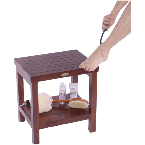 Decoteak Classic Teak Spa Traditional Shower Seat