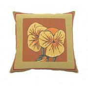 Corona Dcor Corona Decor French Woven Pansy Design Decorative Throw Pillow