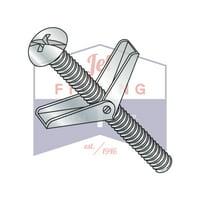 "1/8"" x 2"" Toggle Bolts | Round Head | Combo Drive | Steel | Zinc (Quantity: 50)"