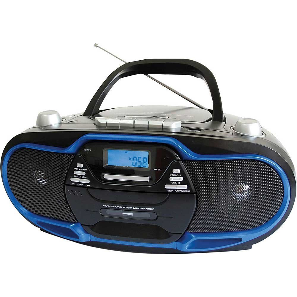 Supersonic Portable Stereo Cd Player & Tape Cassette Reco...