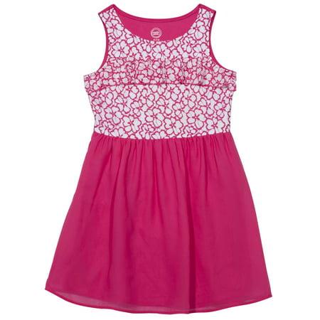 Girls' Ruffled Lace Chiffon Fit and Flare Dress - Dress Up Clothes Kids