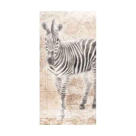 Safari Collage - African Traveling  Animals Two Zebra Global Safari Style Collage Artwork Print Wall Art By Jace Grey