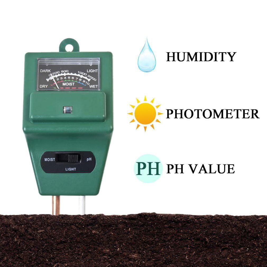 3 in Soil Water Moisture 1 PH Tester Soil Detector Water Moisture Light Test Meter Sensor for Garden Plant Flower