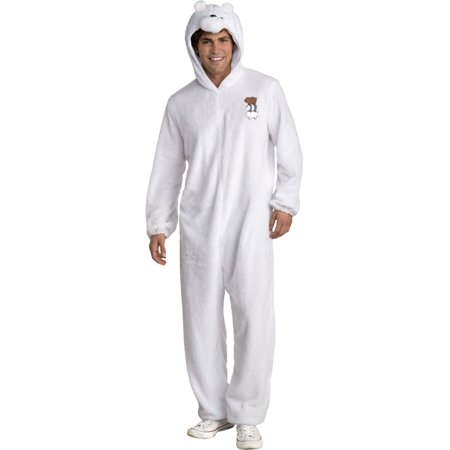 We Bare Bears Ice Bear One Piece Suit Adult Costume](Mens Care Bear Costume)
