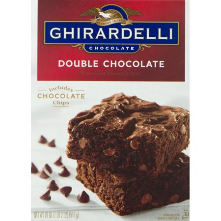 Ghirardelli Double Chocolate Premium Brownie Mix, 18 oz