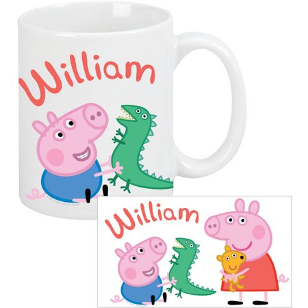 Personalized Peppa Pig and George Coffee Mug ()