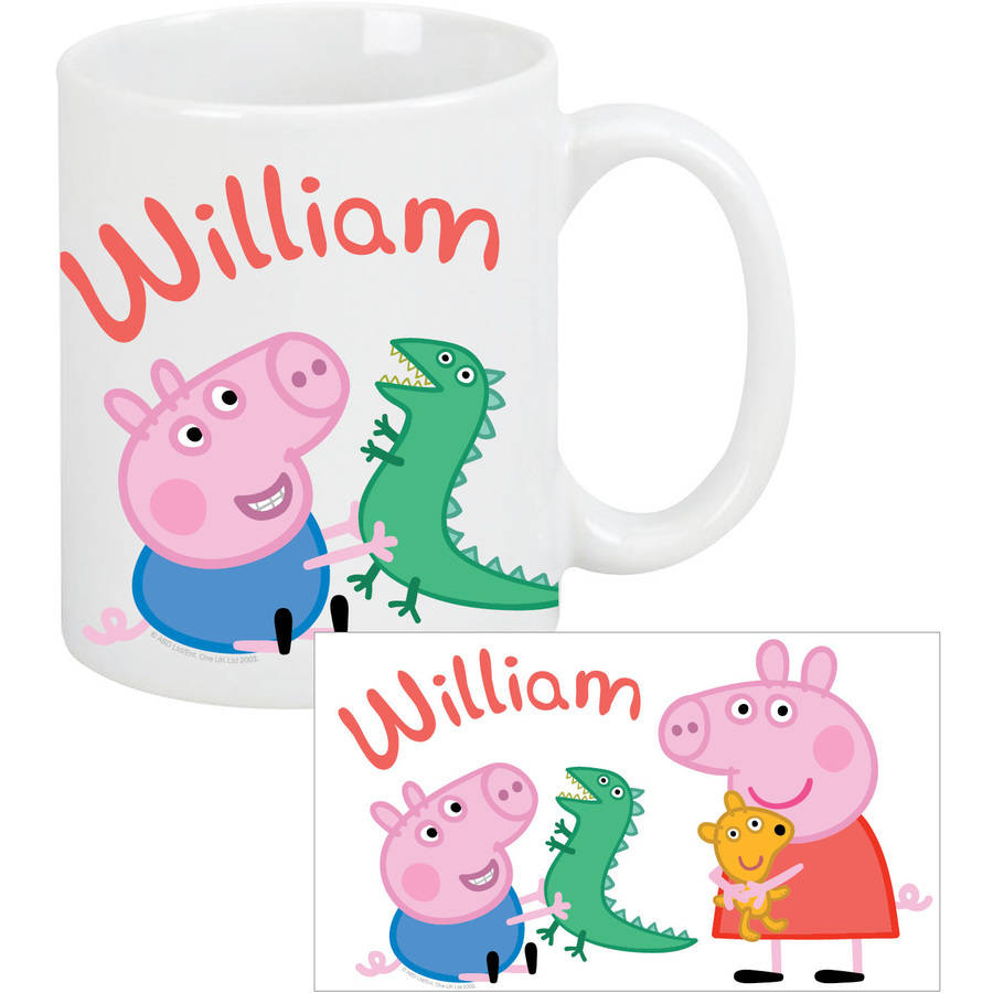 Personalized Peppa Pig and George Coffee Mug