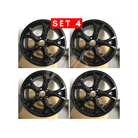 New 17 Inch X 7 5 Alloy Wheels Rims Compatible With Honda Civic 5 Lug Gloss Black 42 Offset Set Of 4 Walmart Com Walmart Com