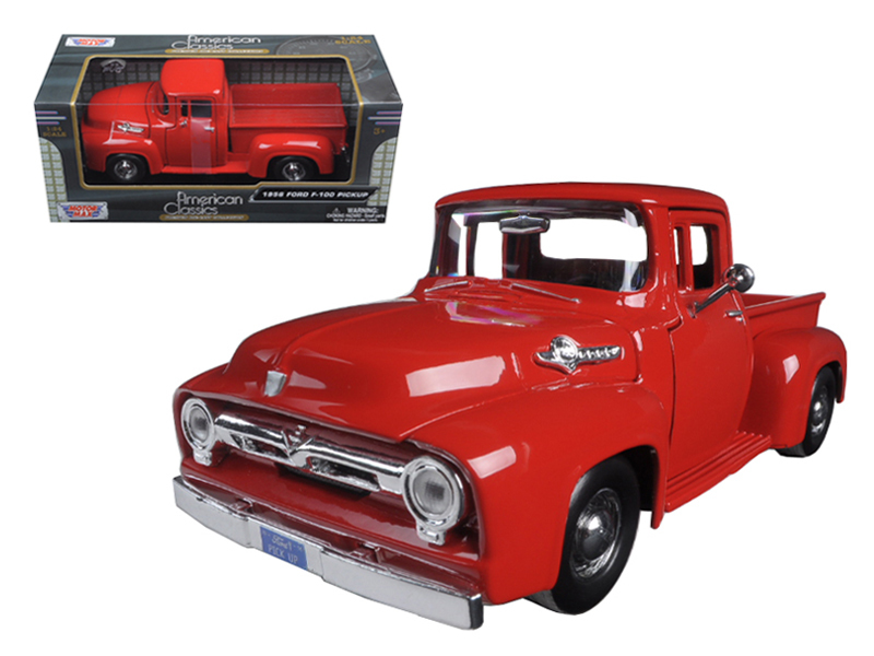 1956 Ford F-100 Pickup Red 1 24 Diecast Model Car by Motormax by Motormax