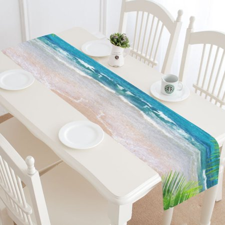MYPOP Tropical Ocean Beach Table Runner Home Decor 14x72 Inch, Nautical Ocean Wave Table Cloth Runner for Wedding Party Banquet Decoration](Nautical Table Decoration Ideas)