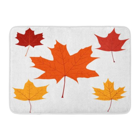 GODPOK White Season Red Fall of Maple Leaves for Your Design Orange Leaf Autumn Rug Doormat Bath Mat 23.6x15.7 inch (Leaf Design Door)