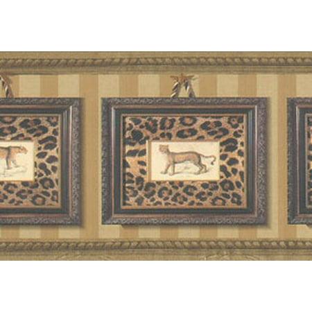 Framed Leopard Prints Wallpaper Border (Border Print)