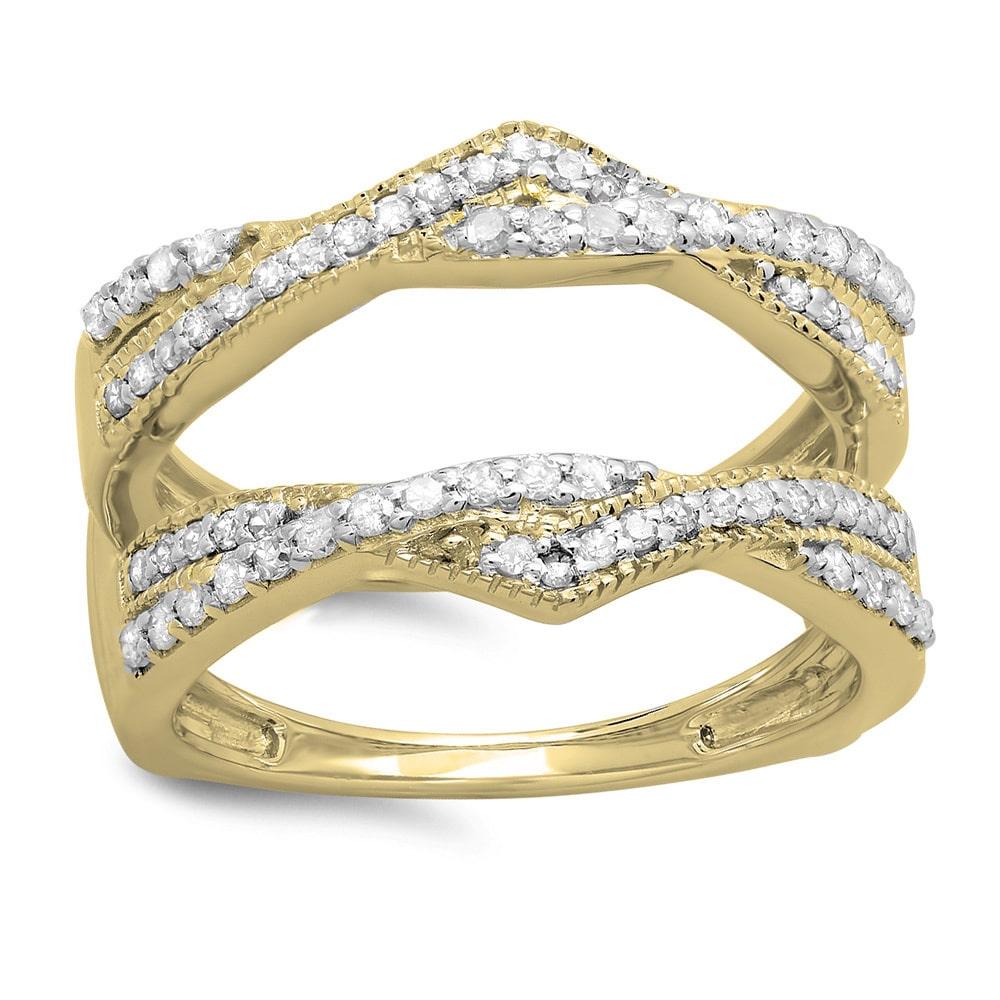 Elora  14k Yellow Gold 1/2ct TDW Diamond Enhancer Ring