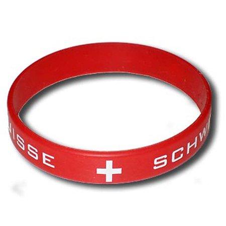 Supportershop SUIBRA Switzerland Silicone Bracelet, One Size - image 1 of 1