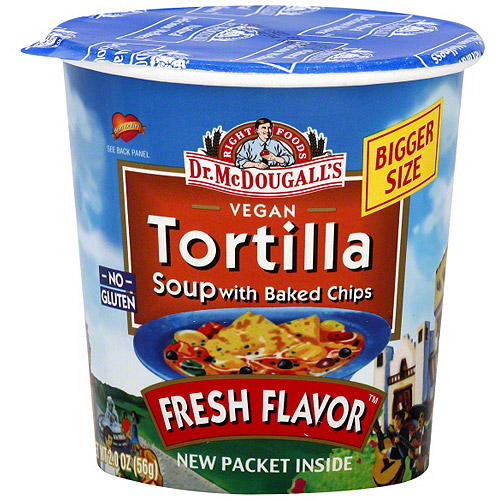 Dr. McDougall's Tortilla Big Cup Soup, 2.0 oz (Pack of 6) 87160