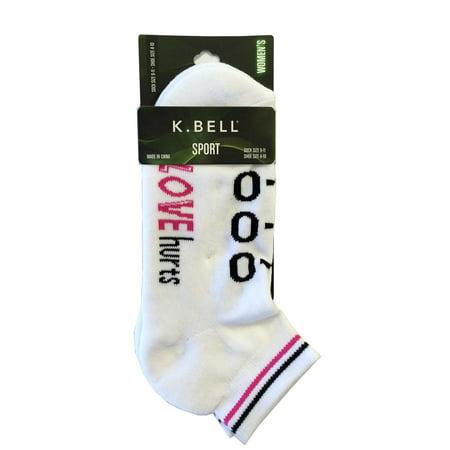 K  Bell Womens Sports Quater Socks  Kgws16e006 01  9 11  Love Hurts