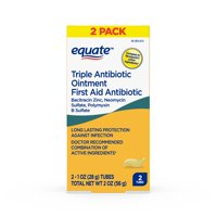 Equate Triple Antibiotic First Aid Ointment, 2 oz, 2 Pack