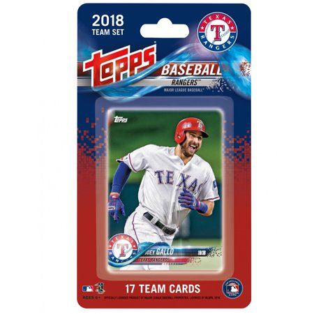 Texas Rangers 2018 Team Set Trading Cards - No Size
