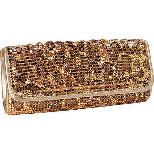 J. Furmani Metal Mesh Print Clutch