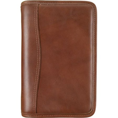 Day-Timer Distressed Leather Zippered 1 inch Planner Cover with Multi-Pockets