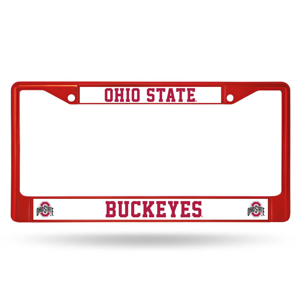 Rico Ohio State Buckeyes Metal License Plate Frame - Red