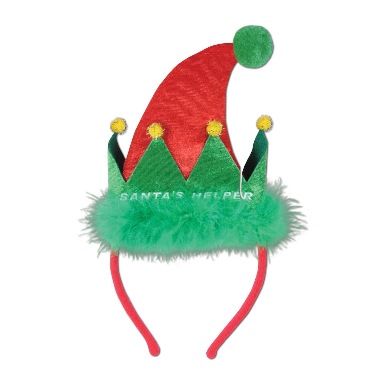 Santa's Helper Headband Party Accessory (1/Pkg) Pkg/6