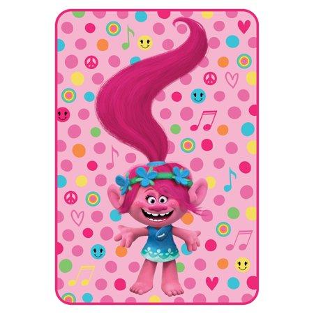 Trolls Poppy Rocks Twin Kids Bedding Plush Blanket, 1 Each