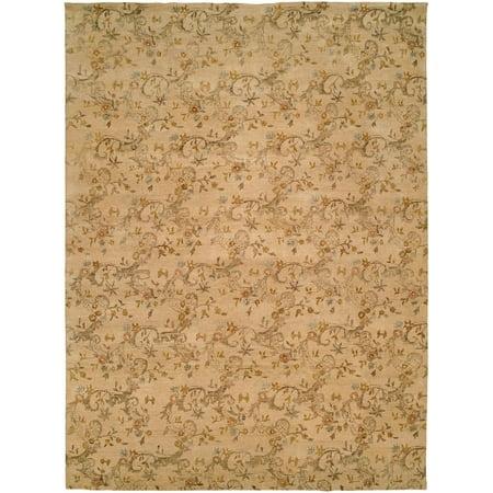 Royal Estate Green (K2 Floor Style Royal Manner Estates Sandy Beige Hand Made Wool Area Rug )