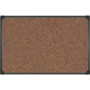 "Universal Tech Cork Board, 48"" x 36"", Black Frame"