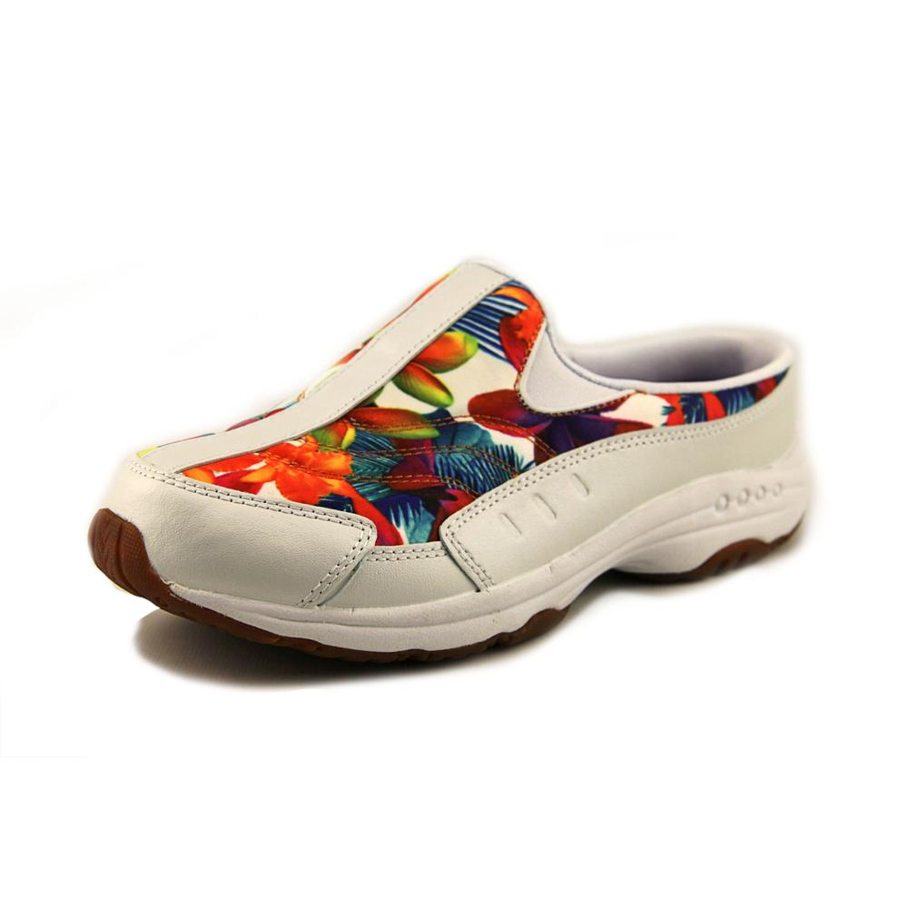 easy spirit traveltime toe canvas white