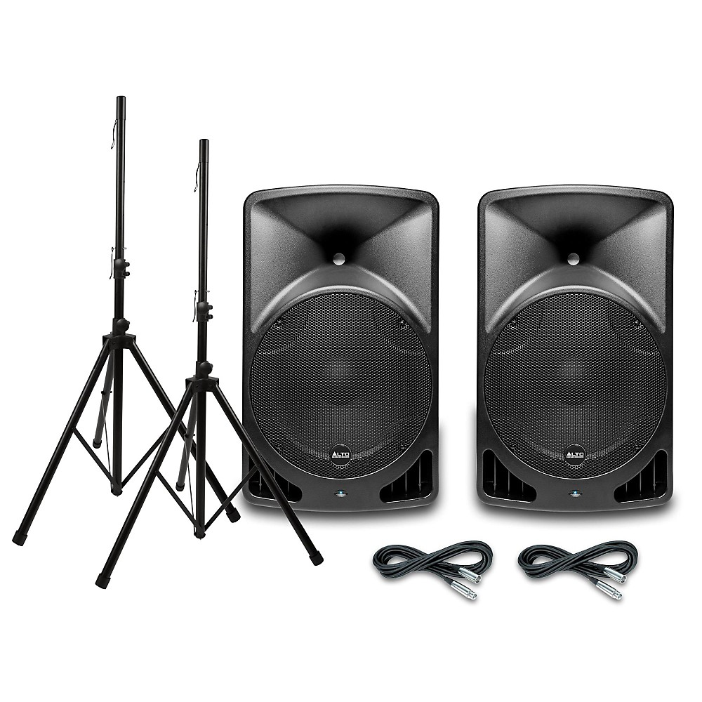 Alto TX15USB 15 Inch Powered Speaker Pair with Stands and...