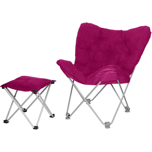 Beau Butterfly Chair With Ottoman, Lola