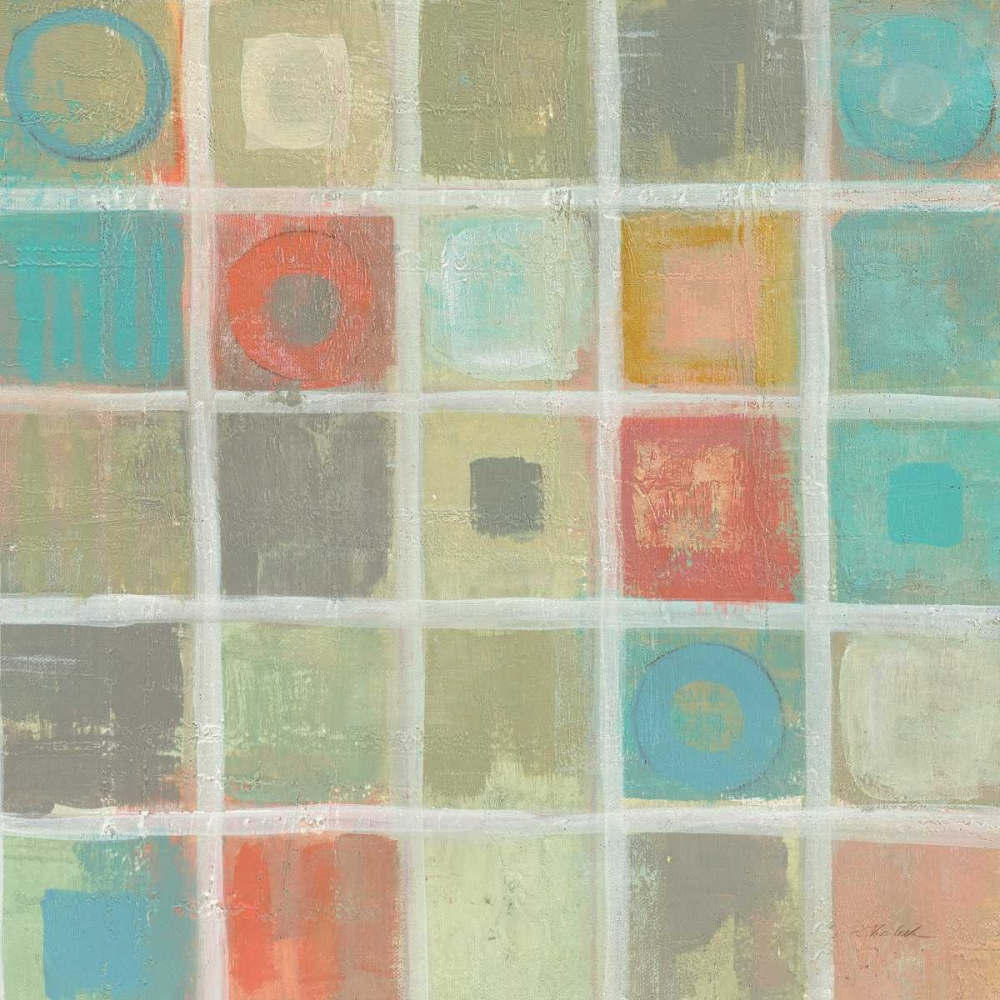 Sea Glass Mosaic Tile IV Stretched Canvas - Silvia Vassileva (24 x 24)
