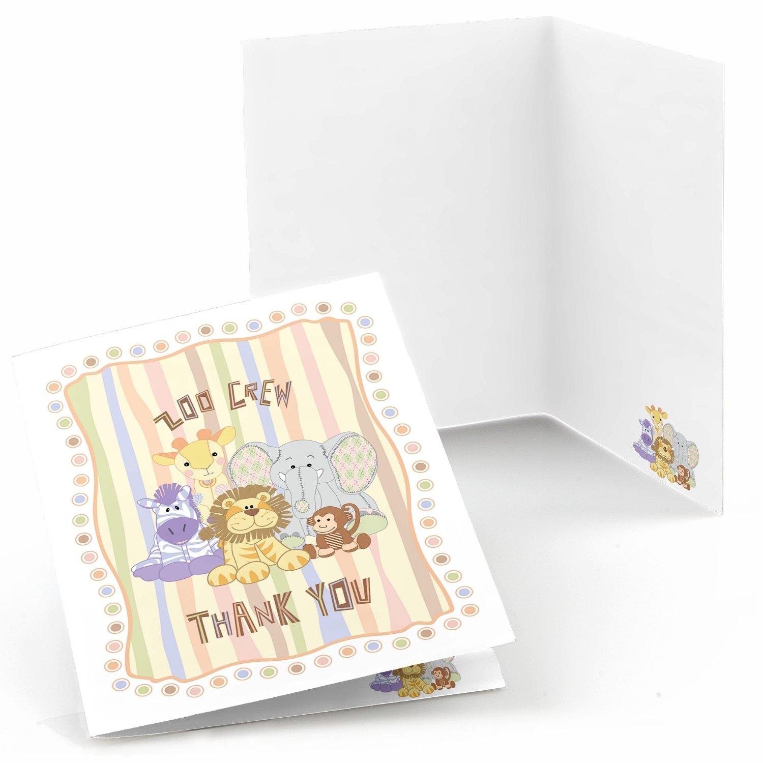 Zoo Crew - Party Thank You Cards (8 count)