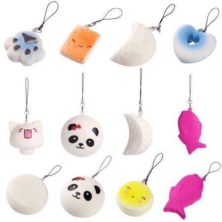 10PCS Cute Jumbo Medium Mini Random Soft Phone Straps Gift Pack