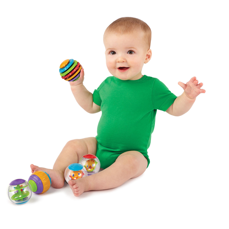 Bright Starts Shake & Spin Activity Balls Toy Walmart