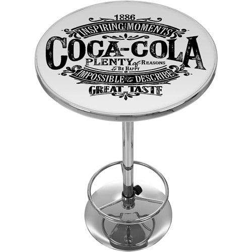 Coca Cola Brazil 1886 Vintage Logo Pub Table by Trademark Global LLC