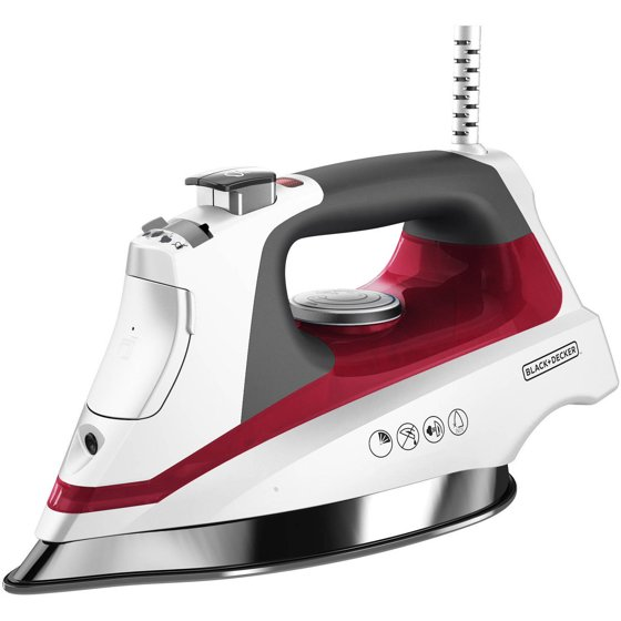 Commercial Steam Iron ~ Black decker allure professional steam iron stainless