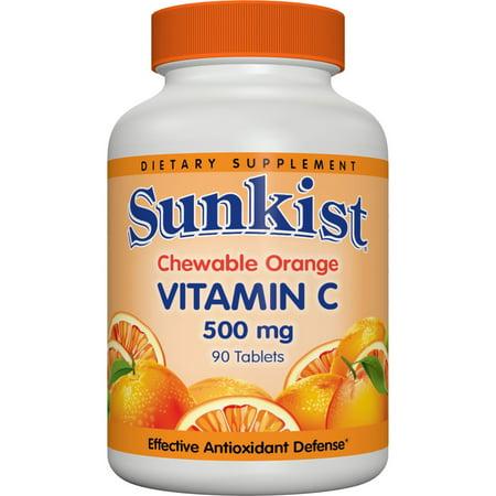 Vitamine C 500 mg Comprimés à croquer orange 90 comprimés