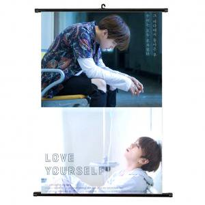 Fancyleo BTS Boys BTS LOVE YOURSELF Poster Wall Scroll Hanging Paintings -