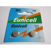 2 x AG3 / LR41 / G3 / SR41W 1.5v Alkaline Cell Battery Batteries NEW, Eunicell AG3 By Eunicell