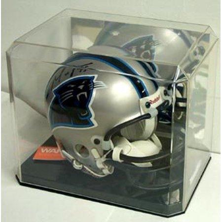 Mini Helmet Display Case Deluxe with Mirror Back - Helmet is Not Included