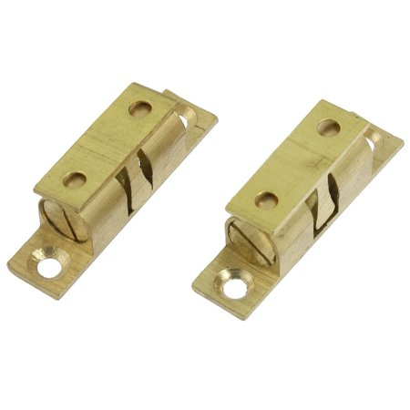 Bass Double Ball (2Pcs 40mm Brass Double Ball Catch Hardware f Cabinet Door )