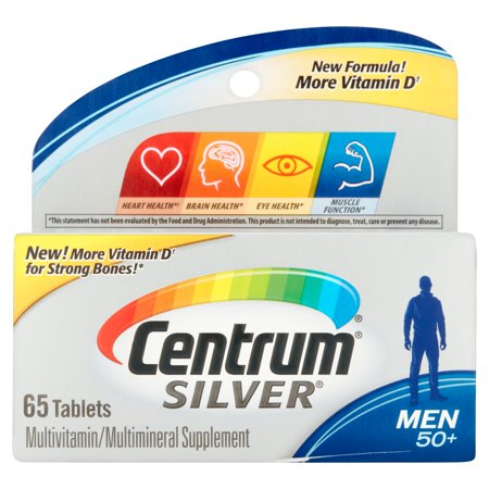 Centrum Silver Men Multivitamin Multimineral Supplement 65 Count